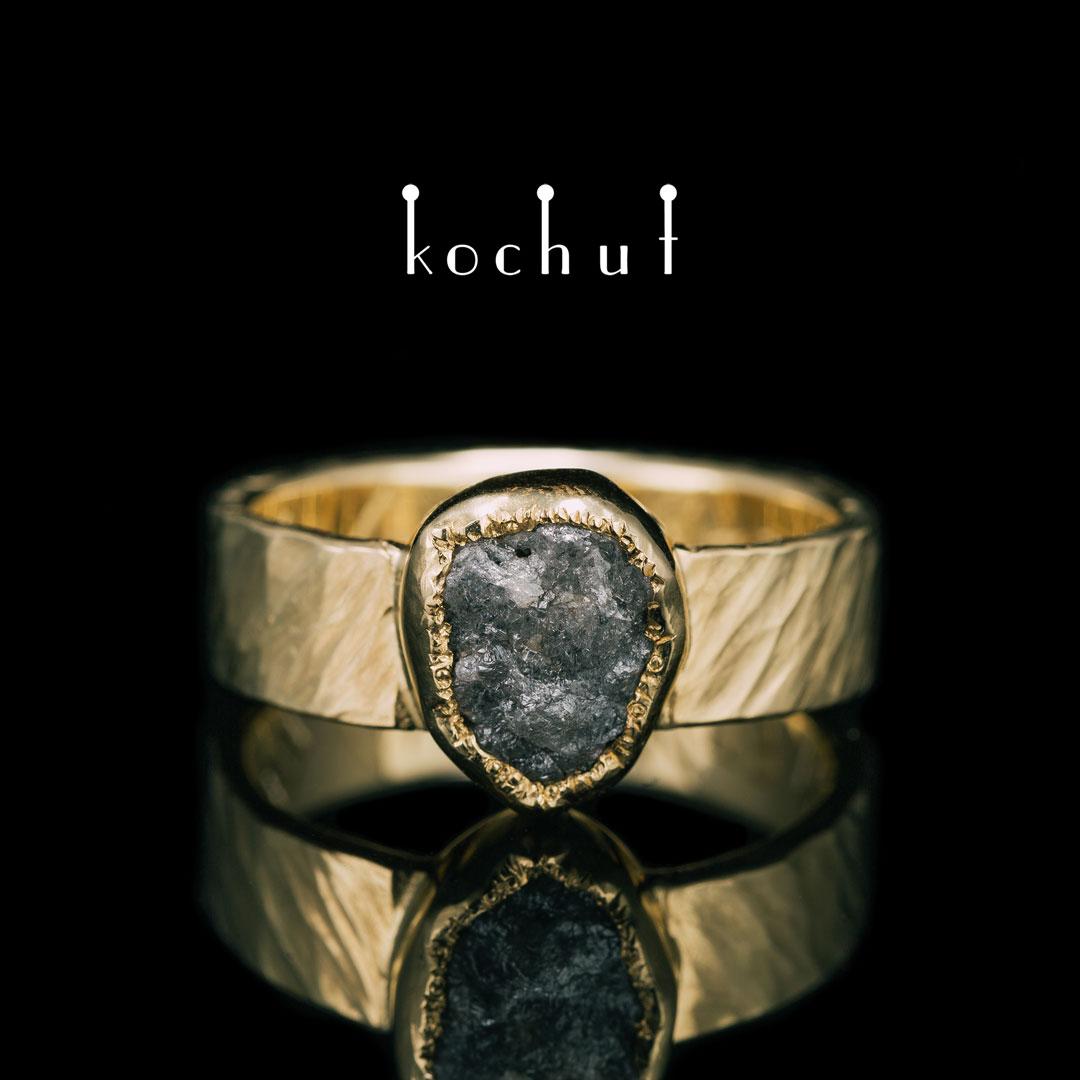 "The Ring ""My Soul"". 18K Yellow gold, diamond"
