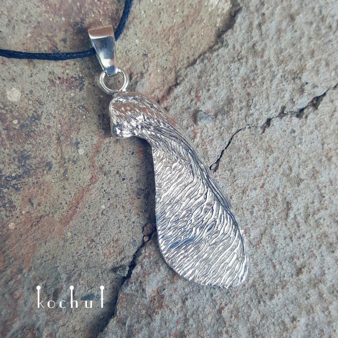 Maple Lionfish — silver pendant