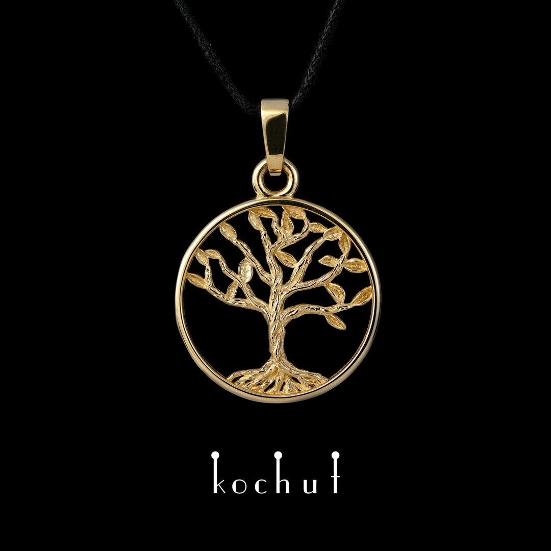 """The pendant """"Tree of Life"""". Gold"""