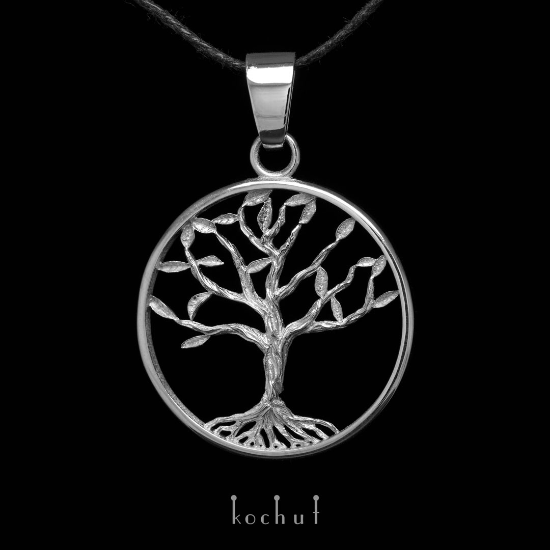 """Pendant """"The Tree of Life"""". Silver, oxidation"""