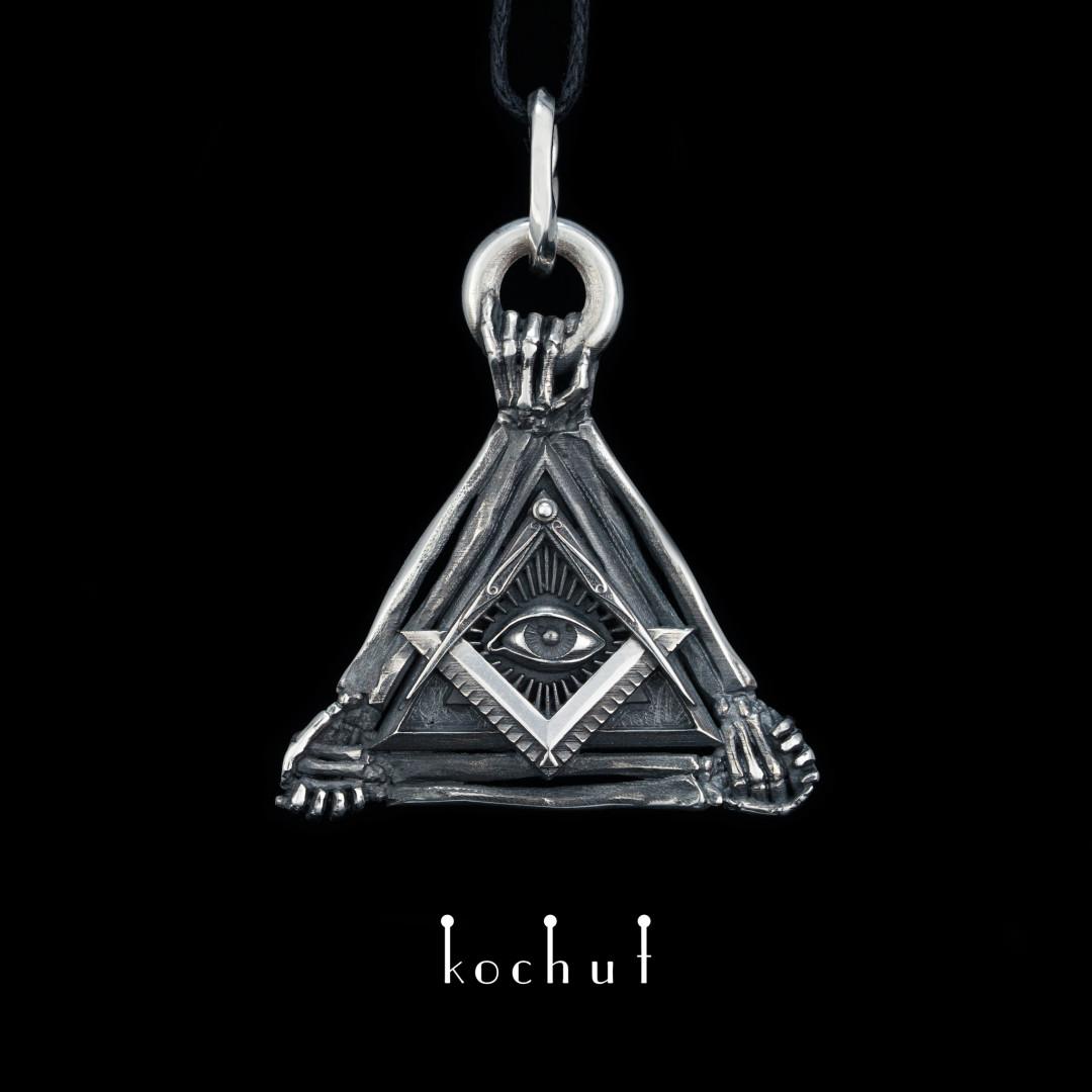 "The pendant ""Radiant Delta"". Silver, oxidation"