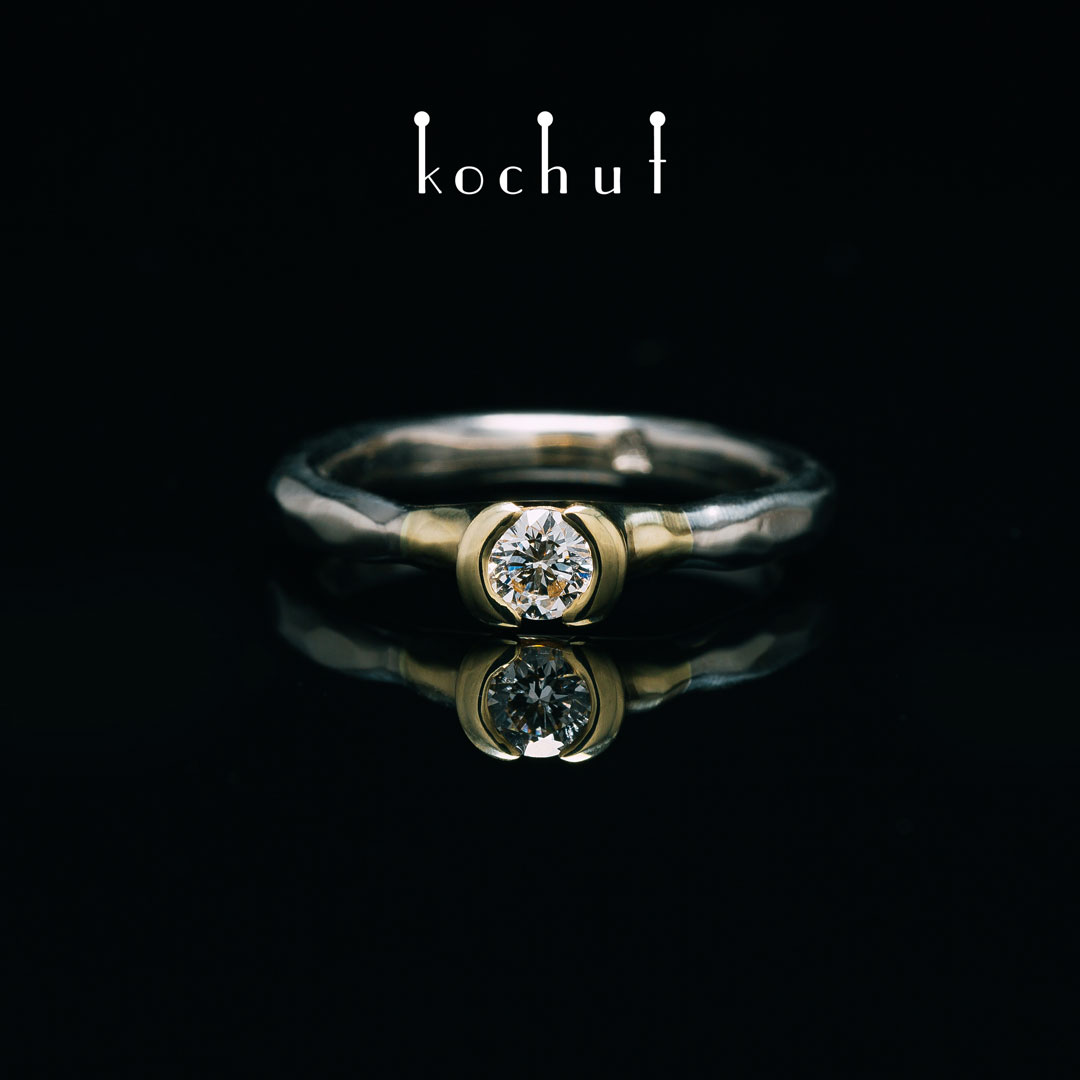 Absolute — a set made of palladium, yellow gold and with diamonds