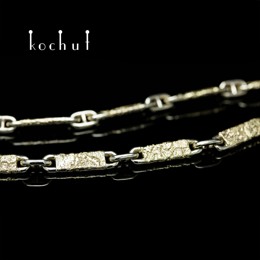Chain «Soul and body». White and yellow gold