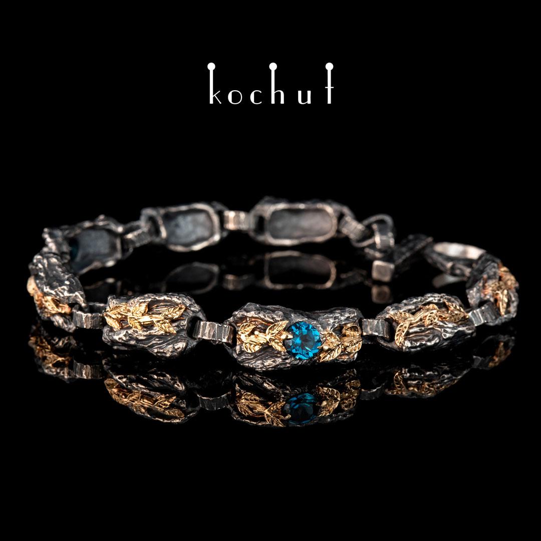 Bracelet «The Power ofLife». Silver, gold, topaz London