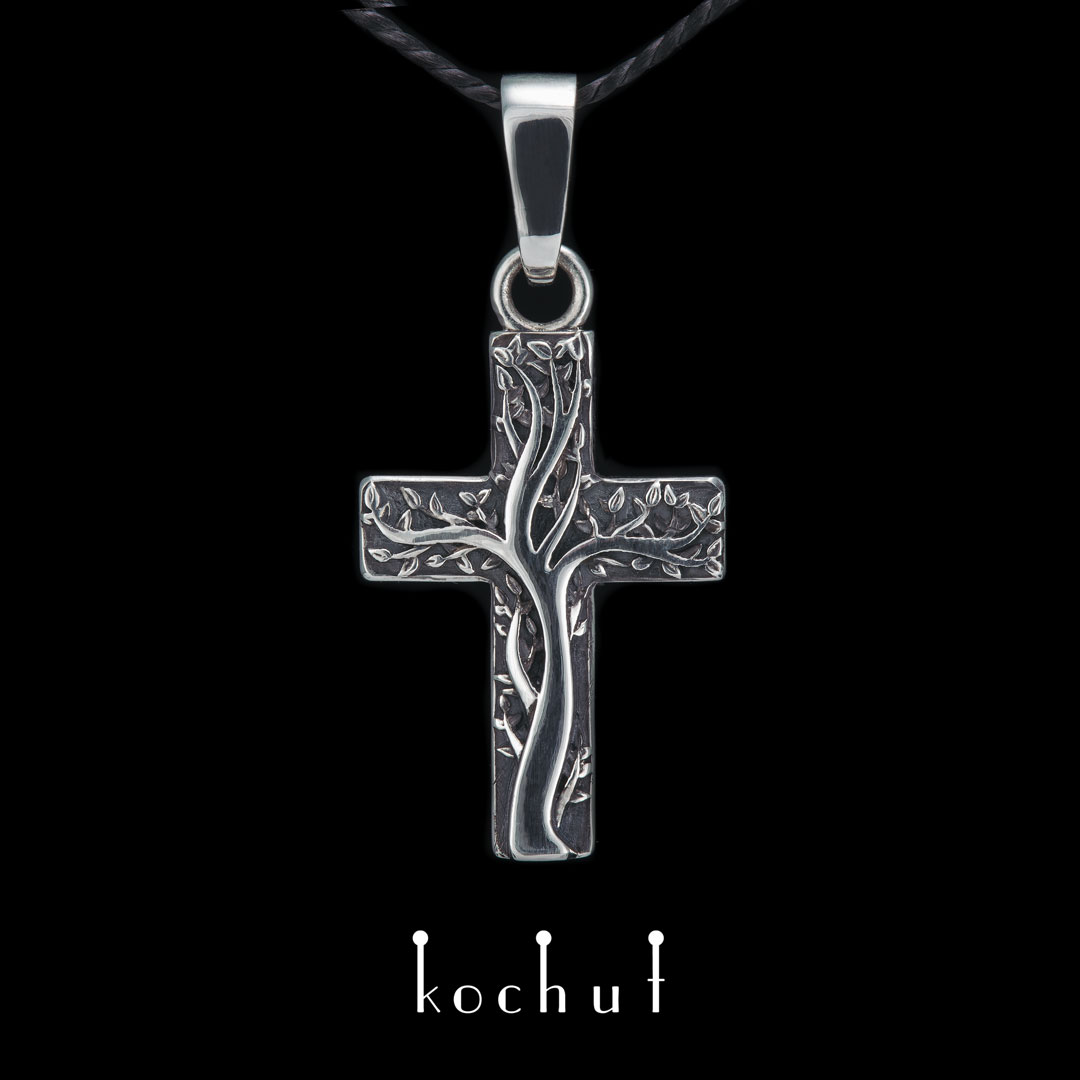 Cross «Roots of faith.» Silver, oxidation