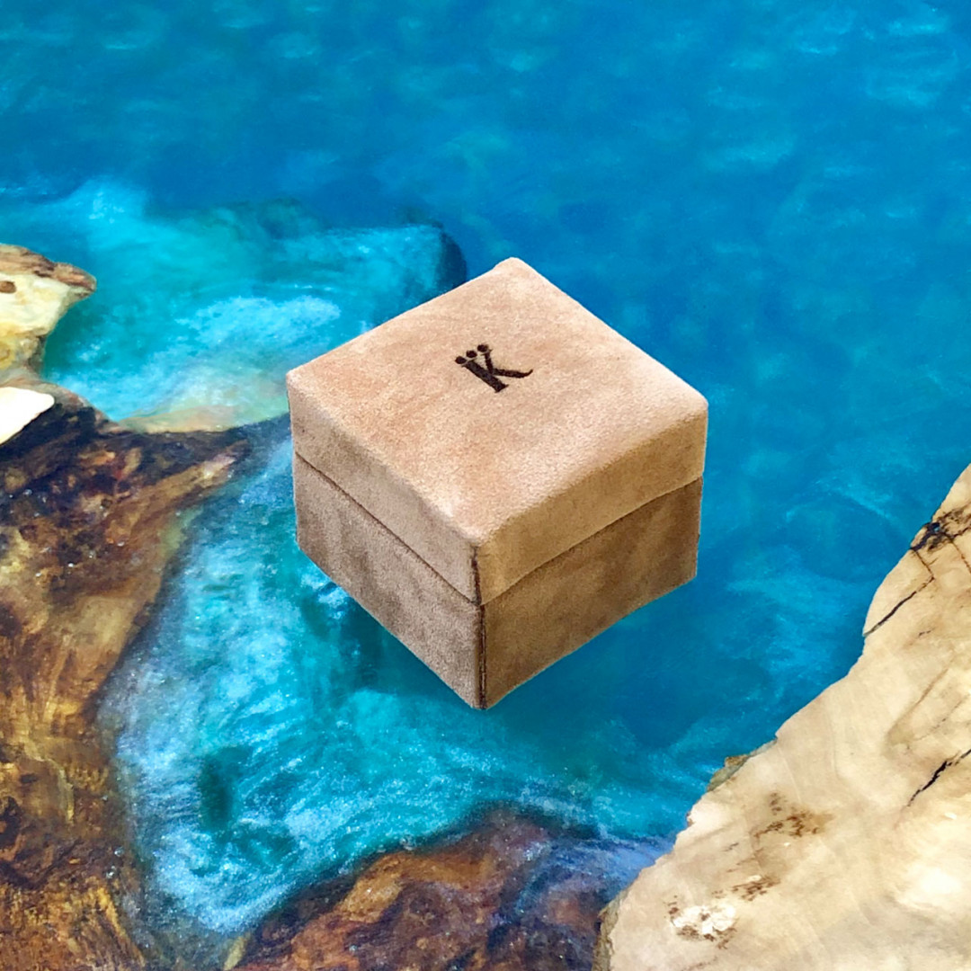 Box for the ring. Eco-suede