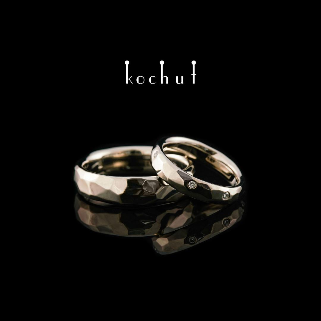 Wedding rings «Absolute». Palladium gold, diamonds