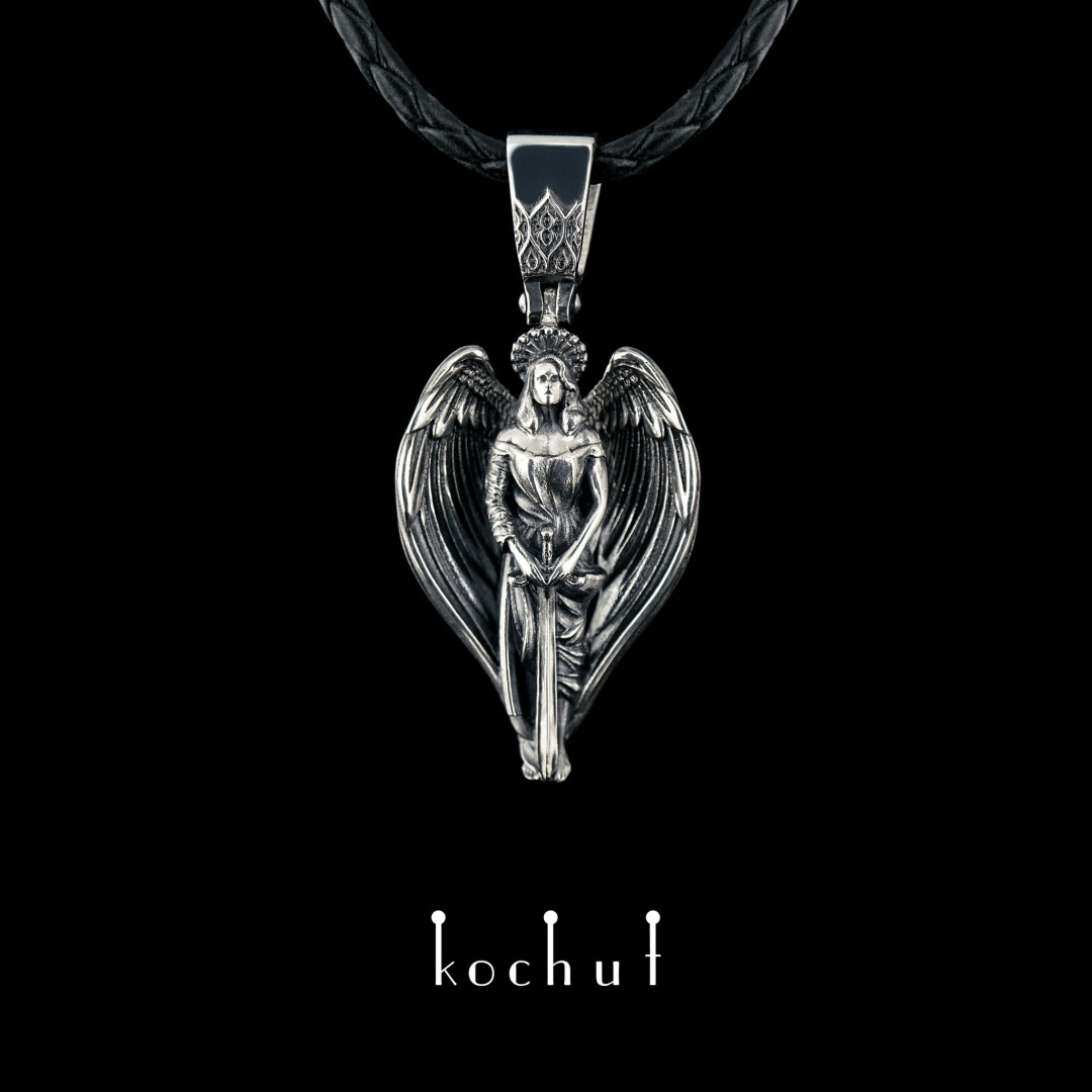 Pendant «Angel». Silver, oxidation