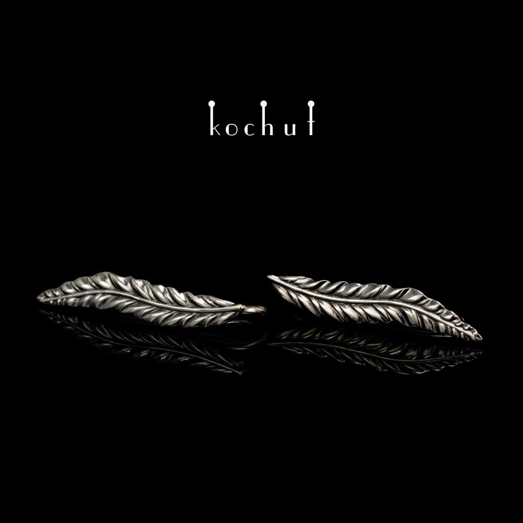 Cuffs «Spikelets». White gold, black rhodium