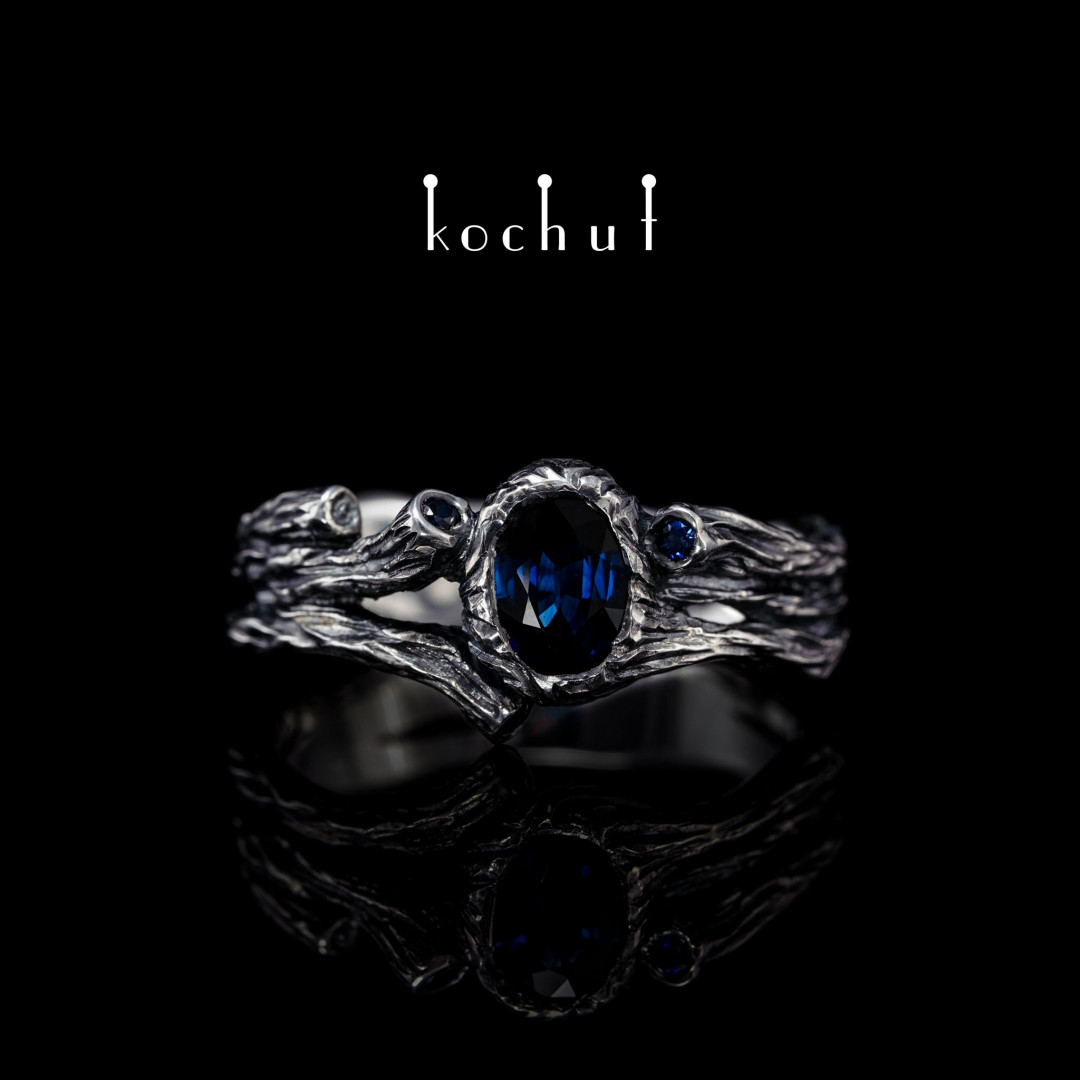 Ring «Sweet Fruit». Silver, Sapphire, Oxidation