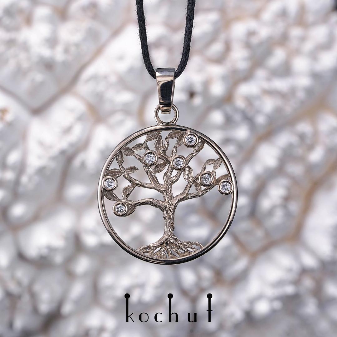 Tree of Life — pendant made of palladium gold