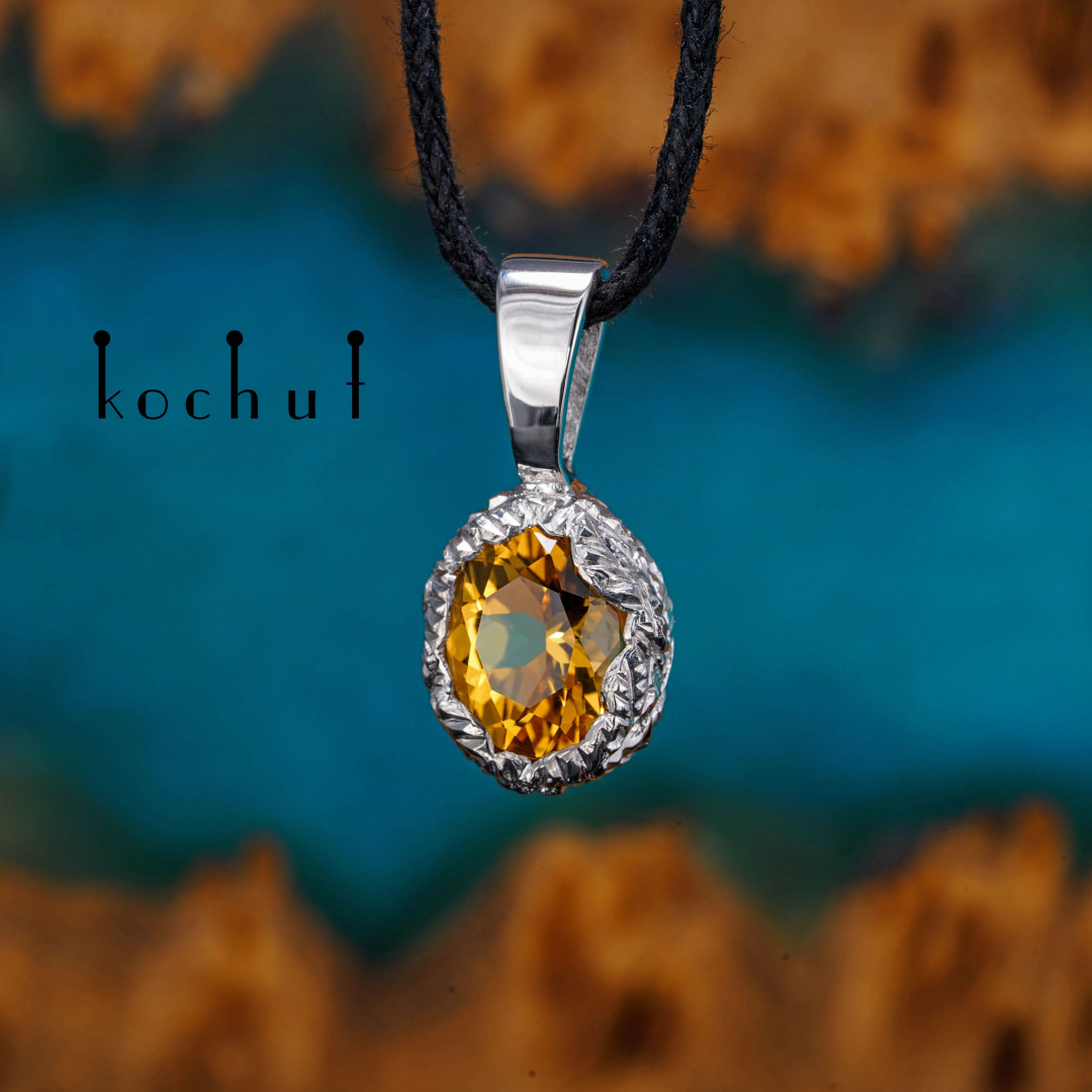 Source of life — silver pendant with citrine