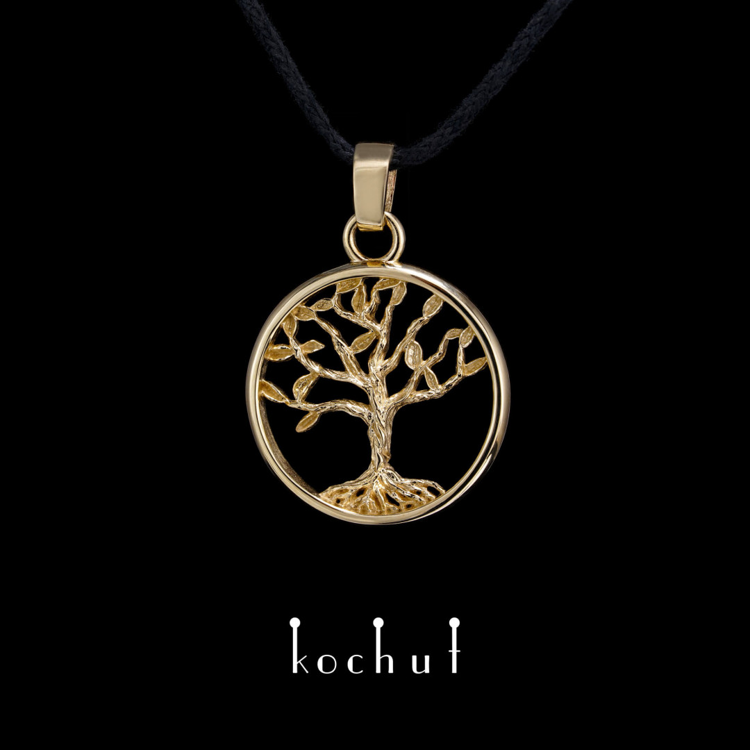 Pendant «Tree of Life. Miniature.» Yellow gold