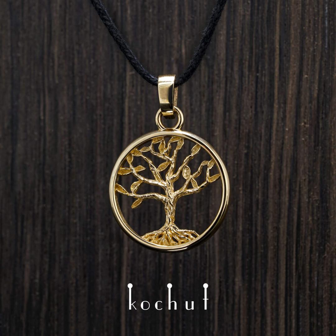 Tree of Life (miniature) — golden pendant
