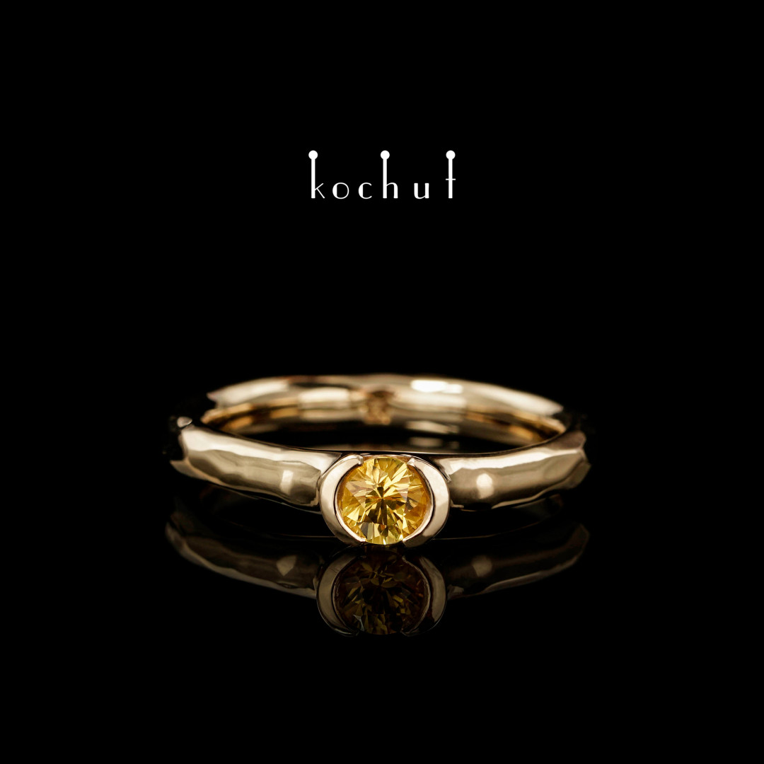 Ring «Absolute». 18K Yellow Gold, yellow sapphire