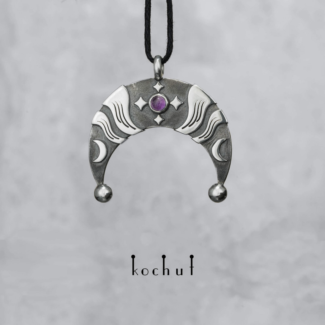 Lunnitsa — silver pendant with an amethyst