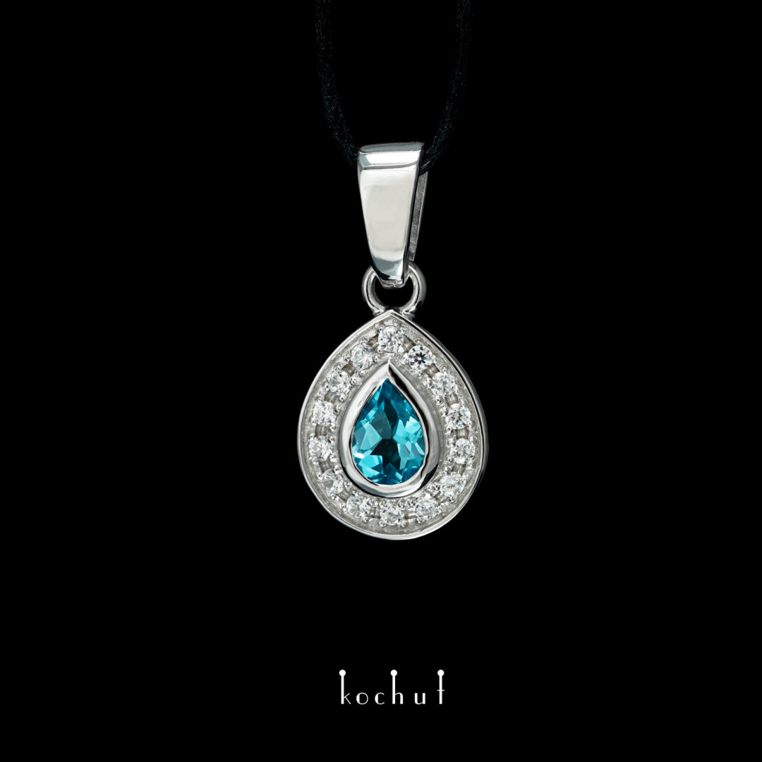 Abyss — gold coulomb with topaz and cubic zirconia