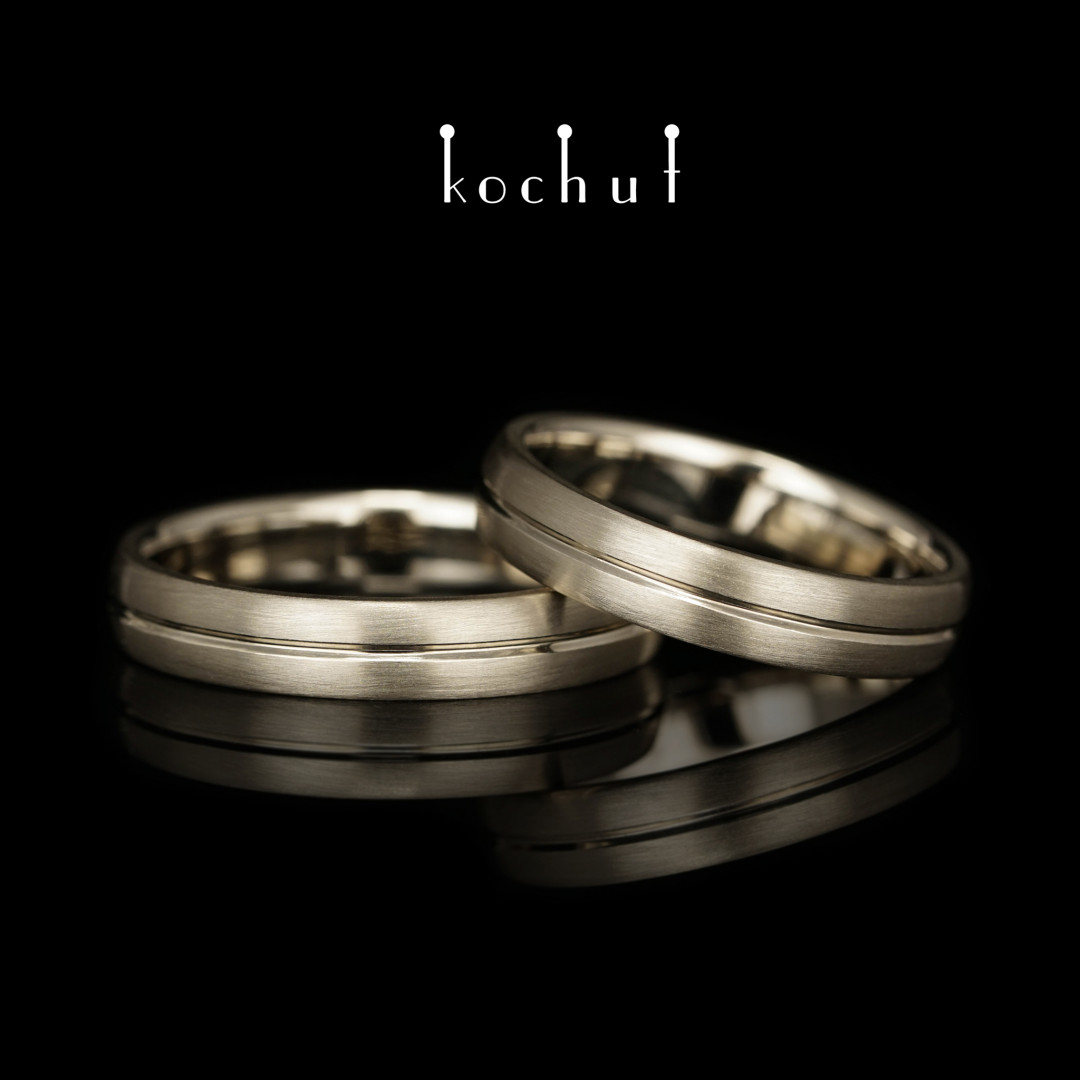 Wedding rings «Axis of Love». White gold