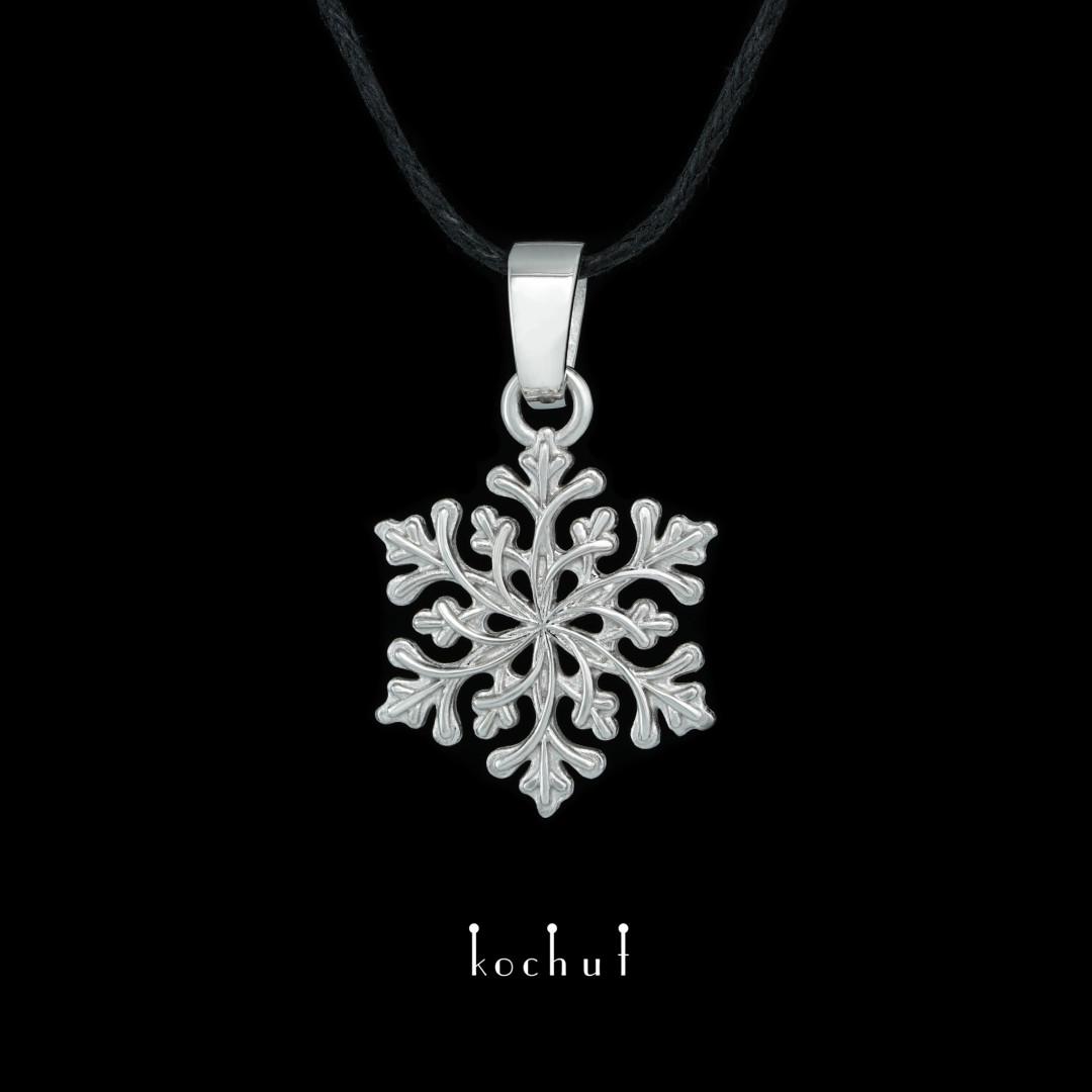 Pendant «Gerda's Touch». White gold, white rhodium