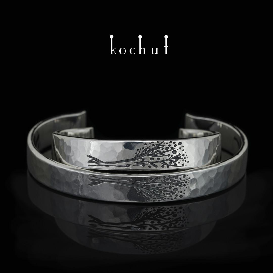 Double bracelet «Tree ofLife». Silver, oxidation