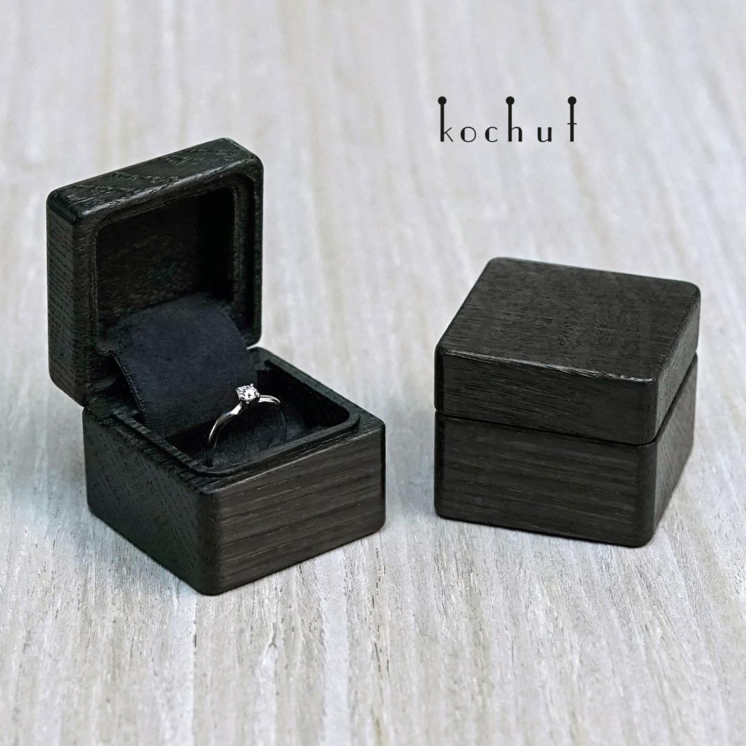 Jewellery box «The muse». Bog oak, oil