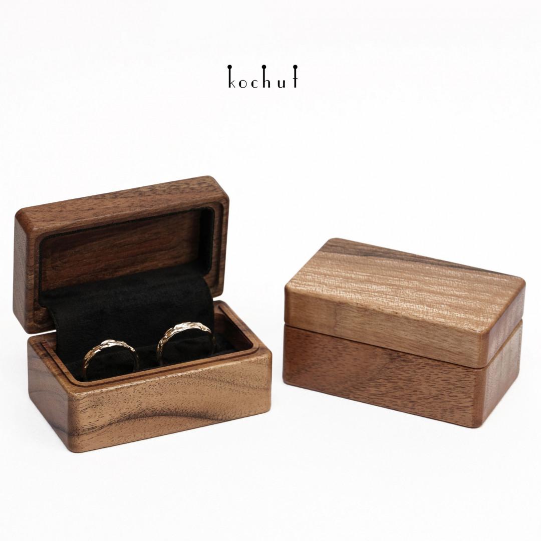 Rectangular jewellery box «The muse». European walnut, oil