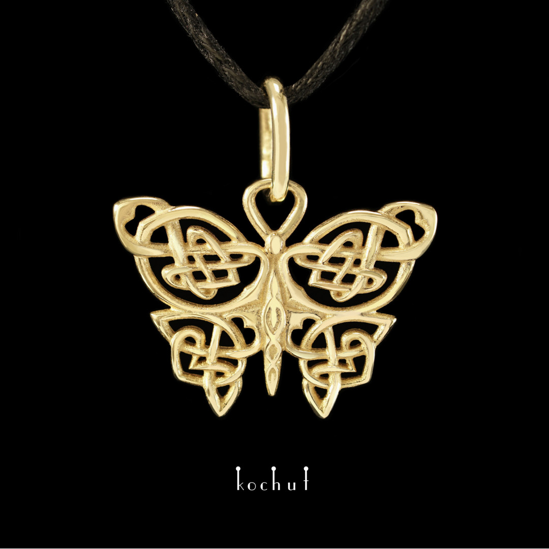 Pendant «Celtic butterfly». Yellow gold