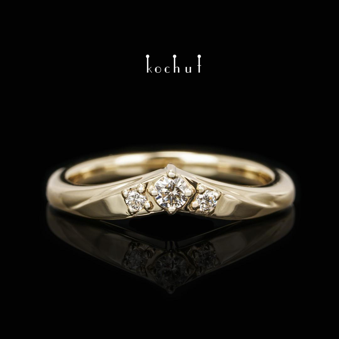 Ring «MyLady». Yellow gold, diamonds