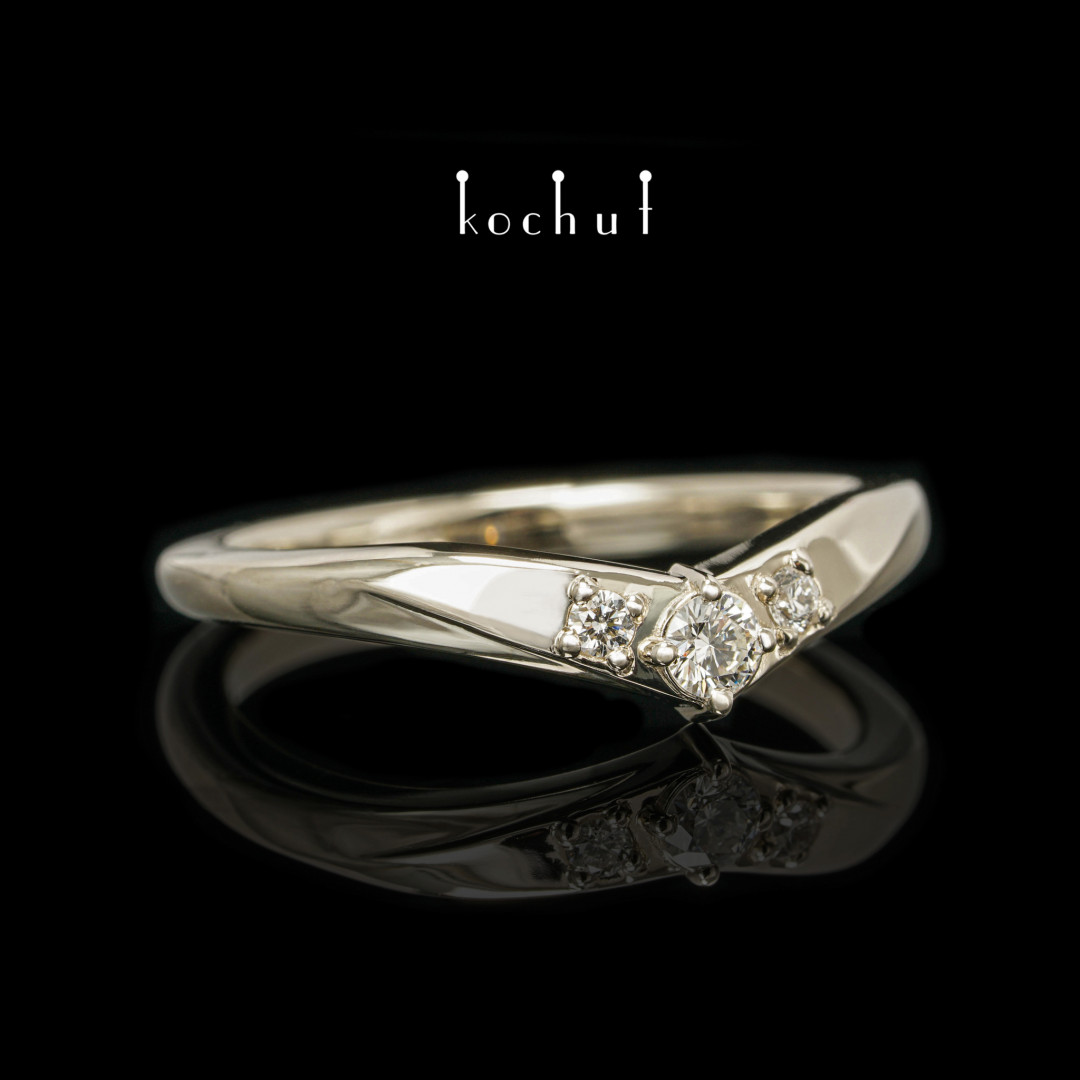 Mylady— white gold ring with diamonds