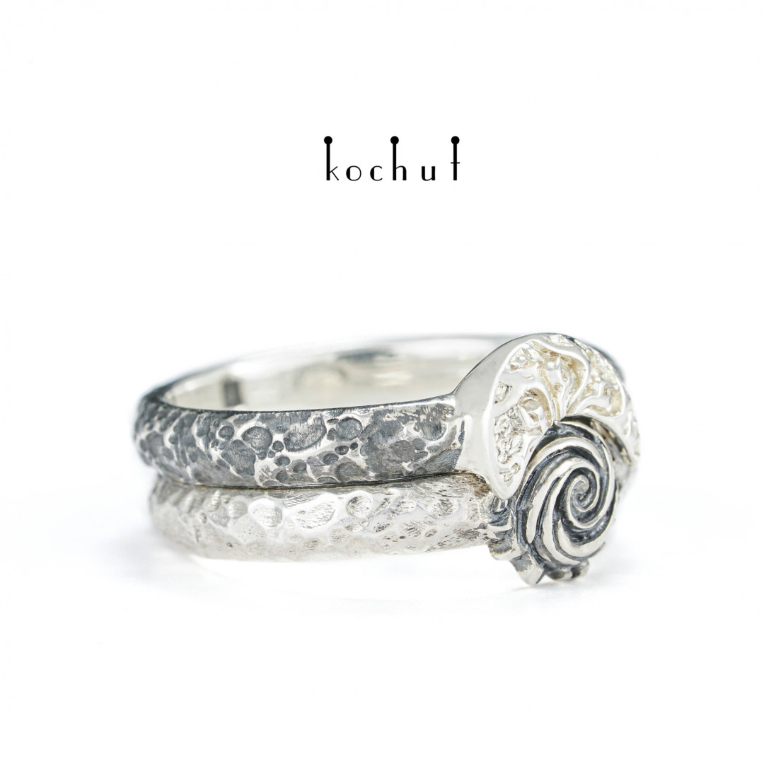 Heavenly Fire — silver double ring