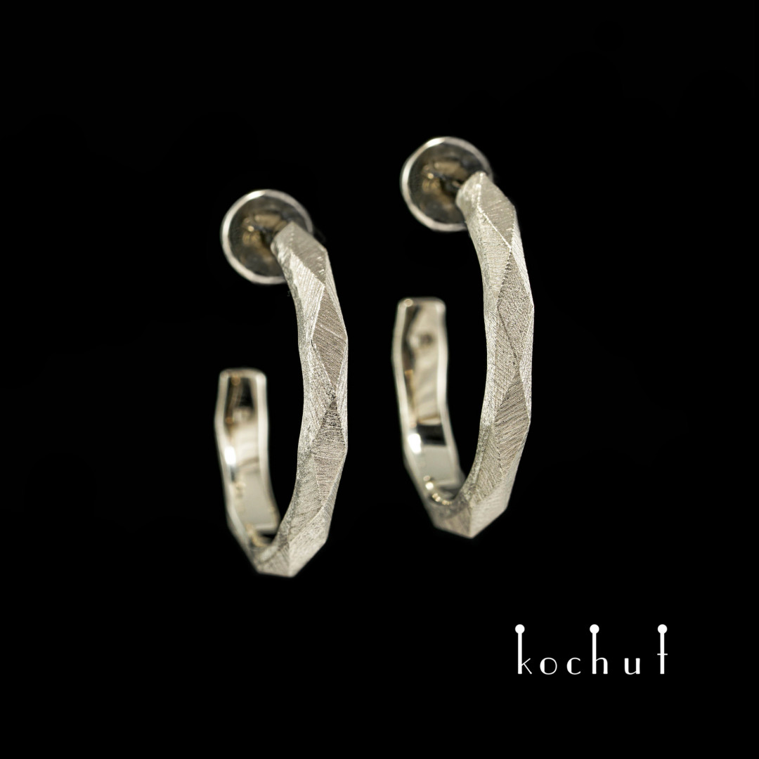 Earrings «MyQueen». White gold