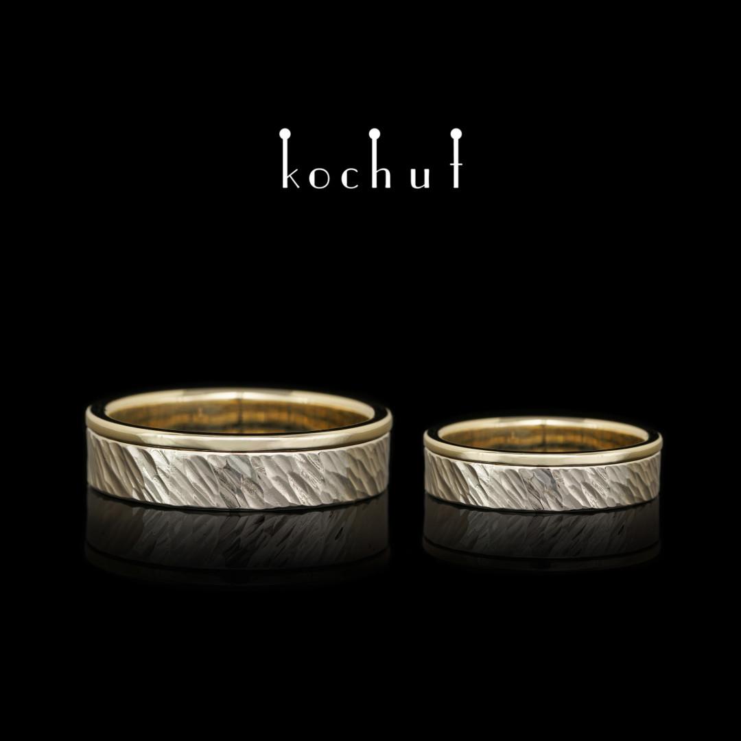 Wedding rings «Memoria». White and yellow gold