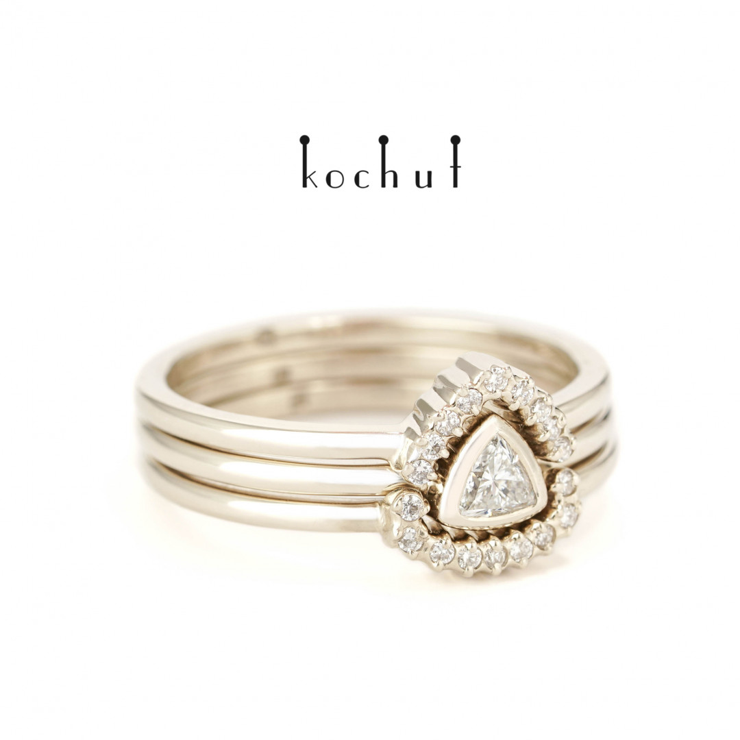 Meridian — triple ring with diamonds